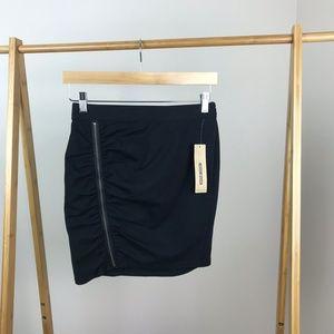 DKNY • Black Mini Skirt Asymmetric Zipper Size 2
